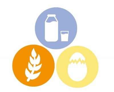 gluten, milk and egg