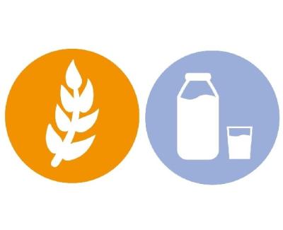milk (casein) & gluten